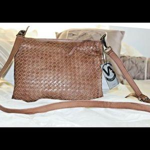 Valentina Italian leather crossbody NEW WITH TAGS